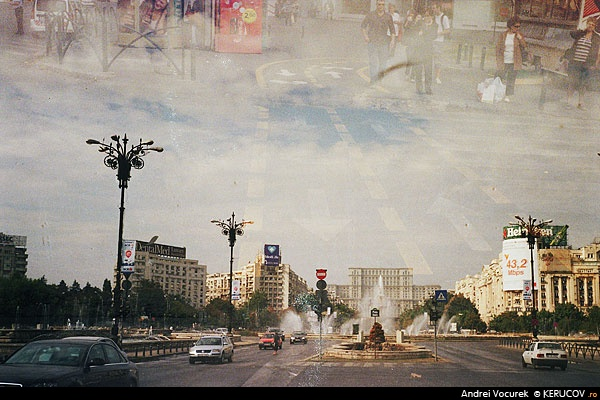Fotografia Piata Unirii / Unirii Square, album Expuneri multiple si lomografie / Multiple Exposures And Lomography, Bucuresti / Bucharest, Romania / Roumanie, KERUCOV .ro © 1997 - 2018 || Andrei Vocurek