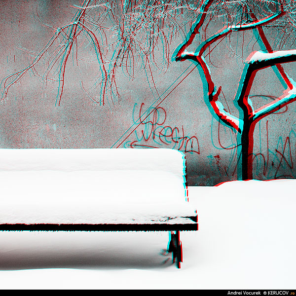 Fotografia Intre toamna si primavara (3D) / Between Autumn And Spring (3D), album Fotografii 3D, stereoscopice, anaglife / 3D Photography, Stereoscopic Photos, Anaglyphs, Bucuresti / Bucharest, Romania / Roumanie, KERUCOV .ro © 1997 - 2018 || Andrei Vocurek